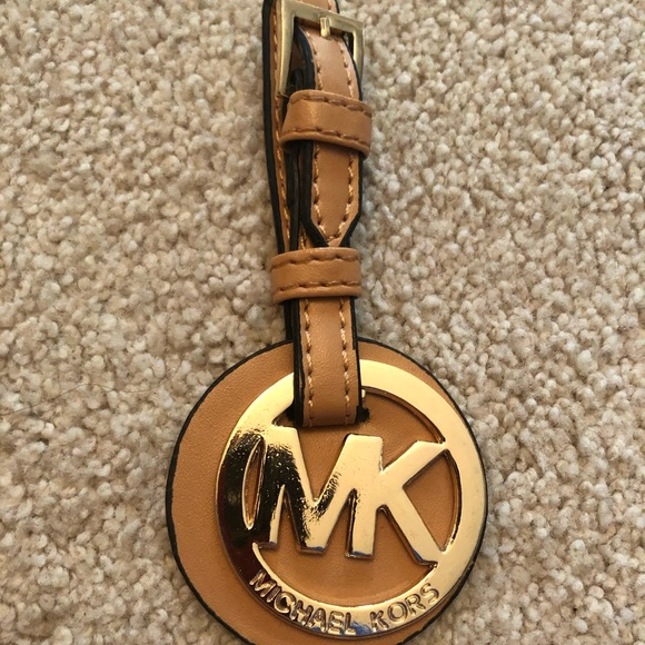Michael Kors Tan Gold Purse Hook Accessory New